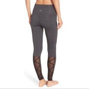 Beyond yoga back cross mesh leggings